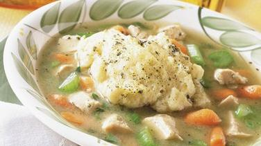 Chicken Soup with Cornbread Dumplings