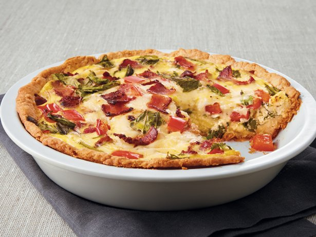 Bacon and Greens Quiche