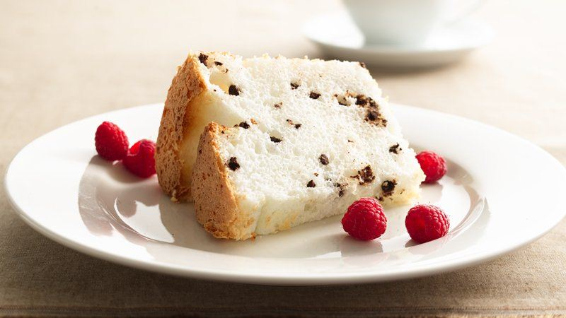 Low-Fat Chocolate Chip Angel Food Cake recipe from Betty Crocker