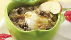 Creamy Apple-Raisin Oatmeal Recipe