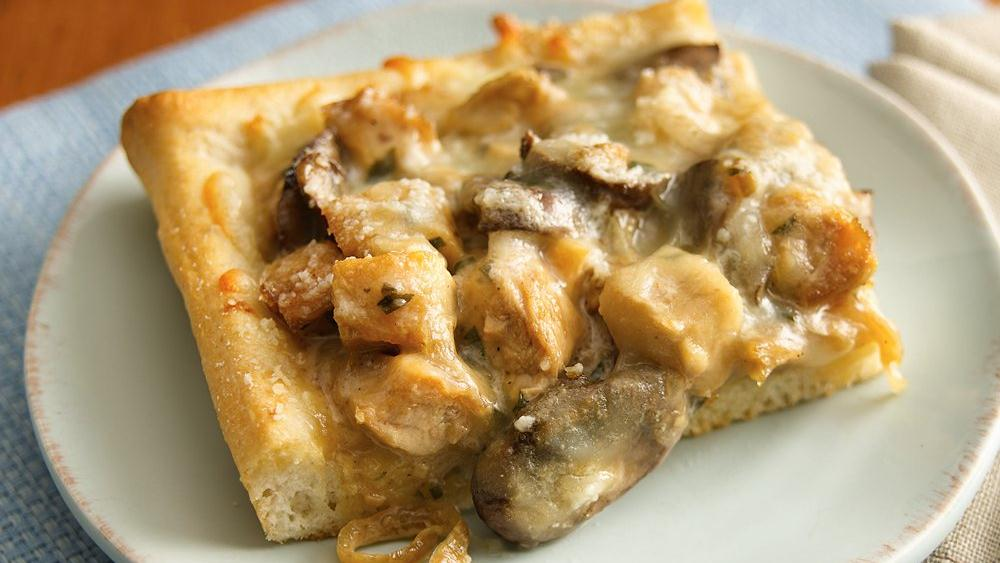 Creamy Chicken Marsala Pizza recipe from Pillsbury.com