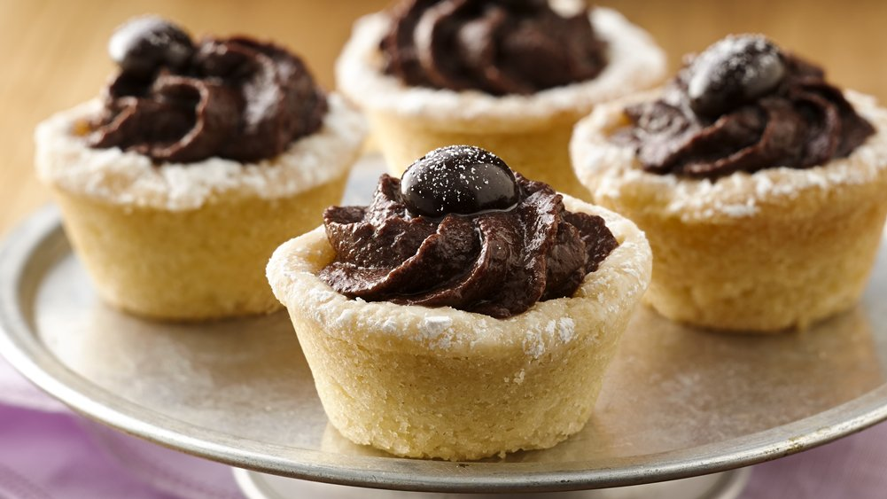 Mocha Hazelnut Truffle Tartlets recipe from Pillsbury.com