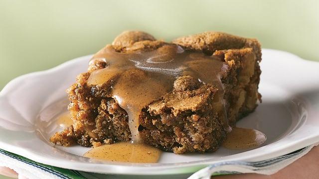 Image of Apple Pudding Cake With Cinnamon-butter Sauce, Pillsbury