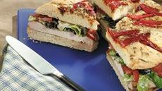Grilled Chicken Caesar Focaccia Sandwiches Recipe