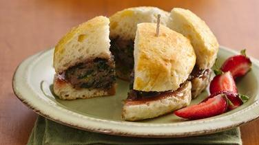 Savory and Sweet Breakfast Biscuit Sliders