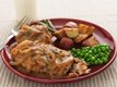 Oven-Fried Chicken with Sweet Onion-Mushroom Gravy