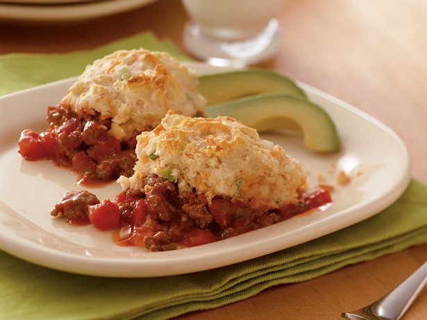 Salsa Beef Biscuit Bake