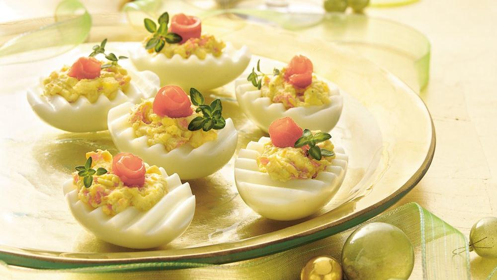 Stuffed Eggs with Smoked Salmon and Herb Cheese recipe from Pillsbury ...