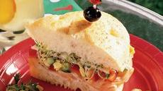 Turkey-Artichoke Focaccia Sandwich Recipe