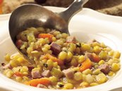 Slow Cooker Split Pea and Ham Chowder