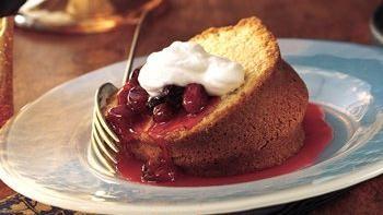 Almond Pound Cake with Cherry-Berry Sauce