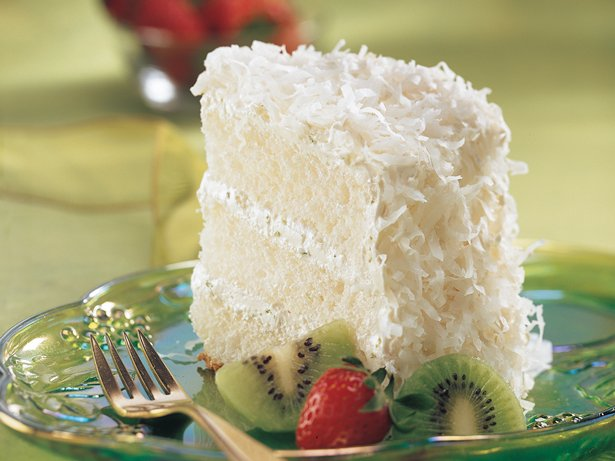 Key Lime Coconut Angel Cake