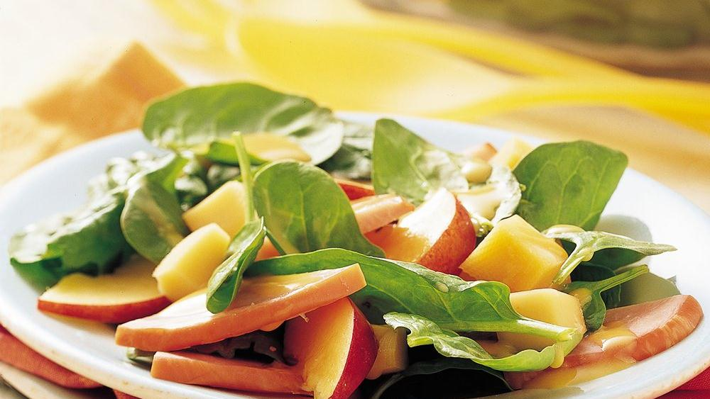 Tossed Smoked Gouda Spinach Salad