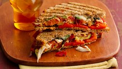 Healthy Chicken and Roasted Vegetable Paninis