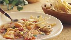 Southwest Chicken Soup with Baked Tortilla Strips (Cooking for Two) Recipe