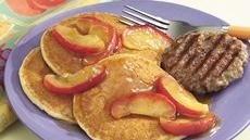 Sausage with Apple-Topped Pancakes Recipe