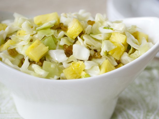 Cabbage-Pineapple-Ginger Salad