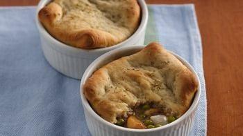 Mediterranean Chicken Pot Pies
