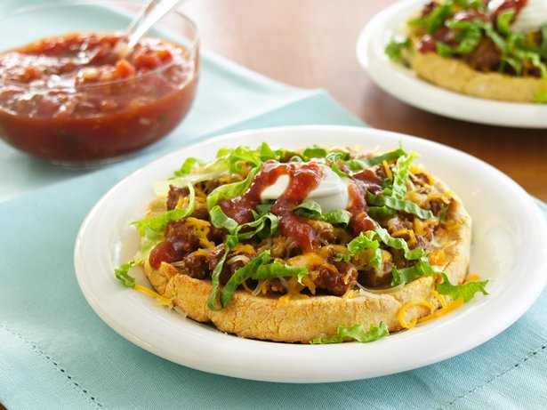 Turkey-Cornbread Tostadas