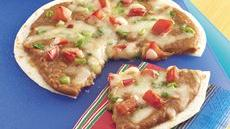 Mexican Bean Pizzas Recipe