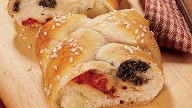 Braided Italian Flag Bread