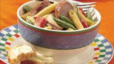 Penne with Vegetables and Kielbasa Recipe