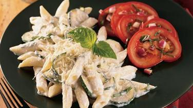 Penne with Zucchini and Ricotta