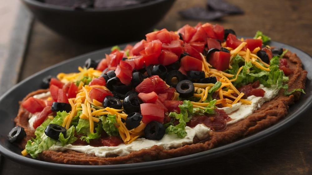 Seven-Layer Bean Dip recipe from Pillsbury.com
