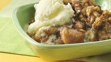 Slow-Cooked Praline Apple Crisp Recipe