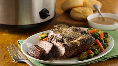 Slow-Cooker Garlic Beef Roast