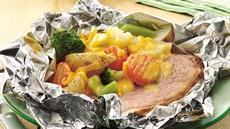 Grilled Cheesy Ham Supper Packets Recipe