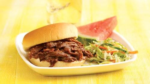 Slow-Cooker Root Beer Barbecue Beef Sandwiches recipe from Betty ...