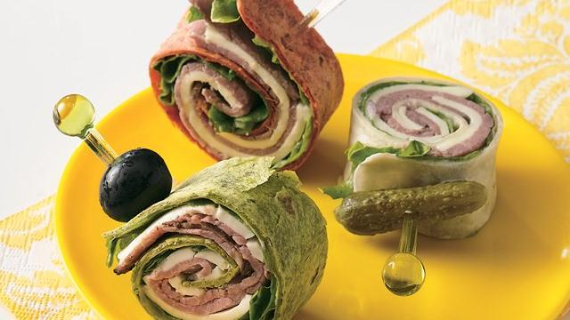 Roast Beef 'n Swiss Tortilla Roll-Ups