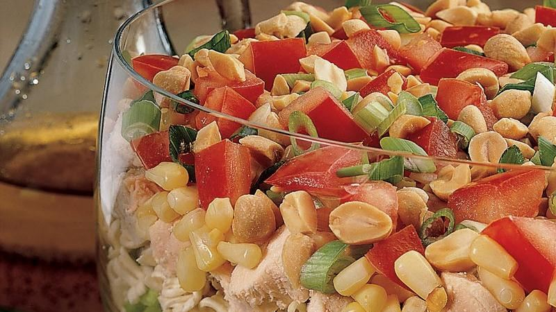 Seven-Layer Chinese Chicken Salad