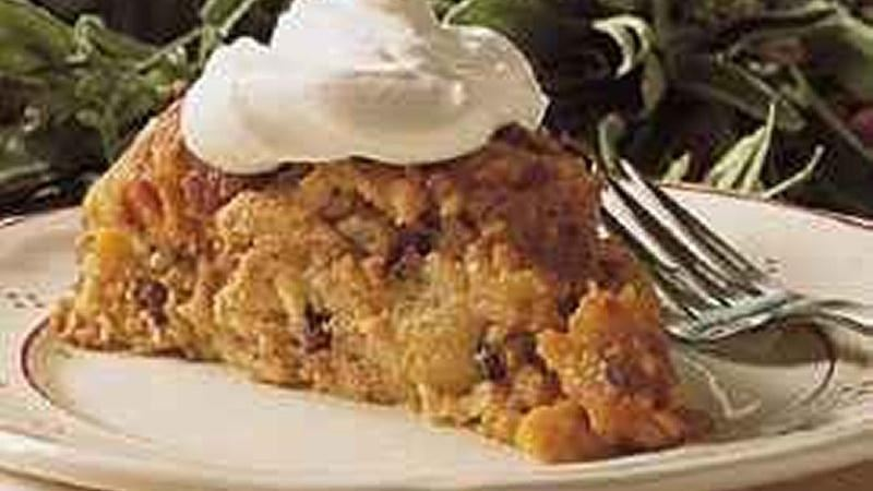 Pumpkin Bread Pudding (lighter recipe)