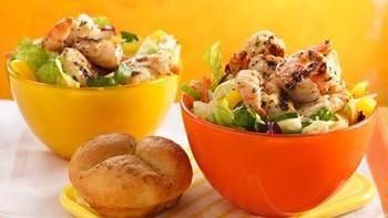 Grilled Zesty Herb Shrimp Salads