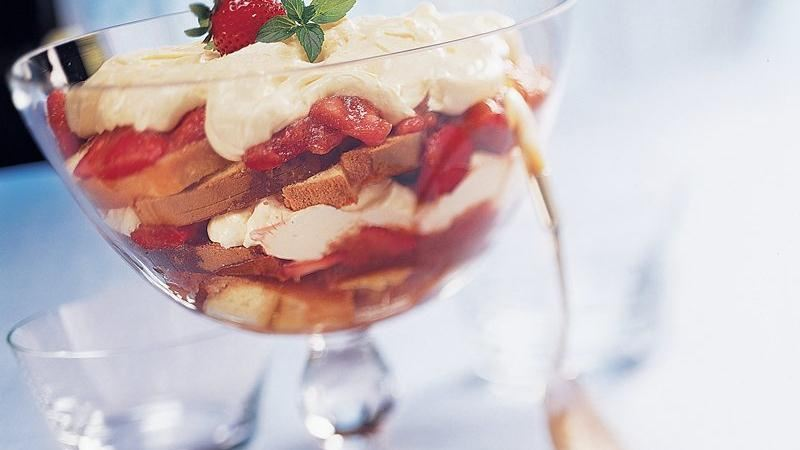 Strawberry-Rhubarb Trifle