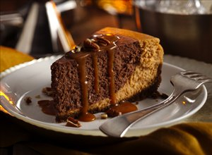 Chocolate&#32;Bourbon&#32;Pumpkin&#32;Cheesecake
