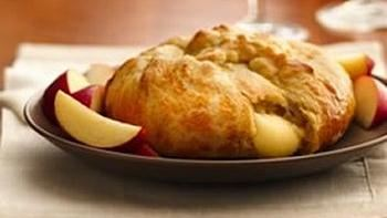 Crescent Wrapped Baked Apple Brie