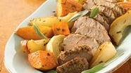 Gluten Free Roasted Pork Tenderloins with Sweet Potatoes and Pears