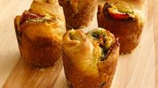 Pepperoni-Pesto Popovers Recipe