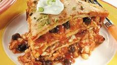 Speedy Layered Chicken Enchilada Pie Recipe
