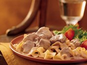 Slow Cooker Beef Stroganoff (Cooking for 2)
