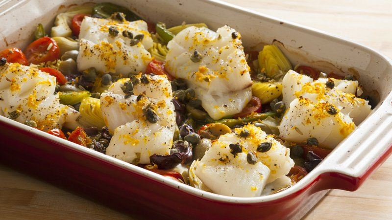 One-Pan Mediterranean Roasted Fish Dinner
