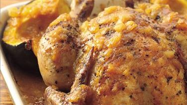 Maple Roast Chicken and Squash