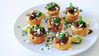Steak and Cornbread Tamale Bites