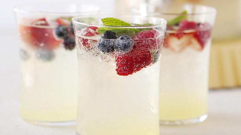 Red and Blue Lemonade Cocktail