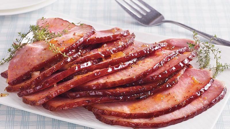 Riesling Peach Glazed Ham