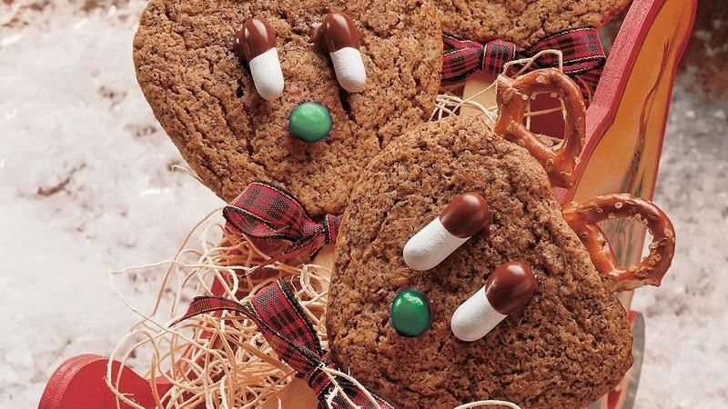 Reindeer Ginger Cookie Pops