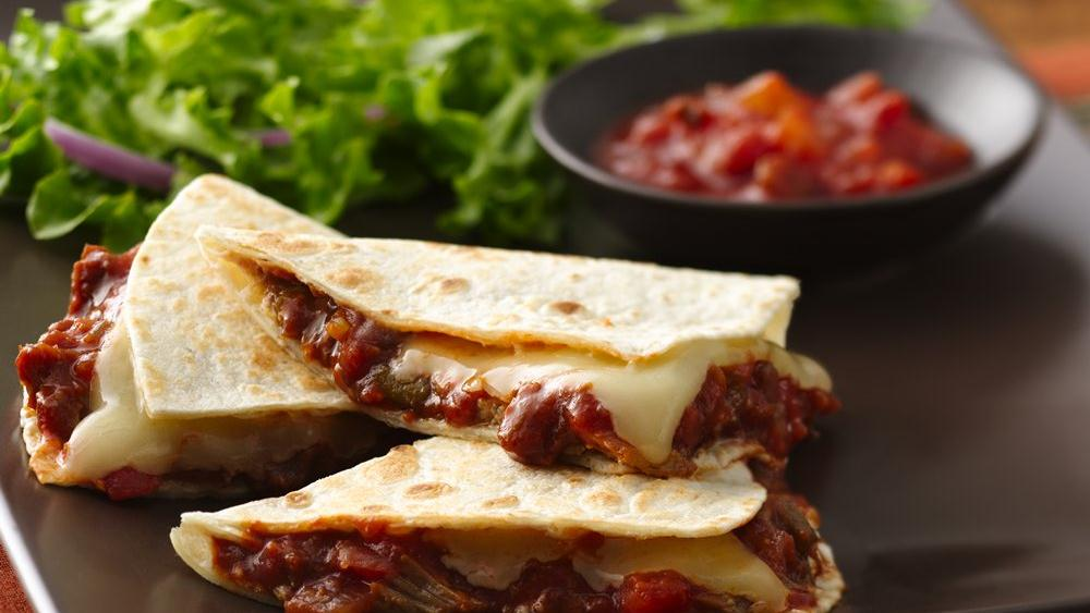 Cheesy Pork Quesadillas